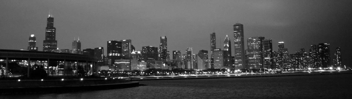chicago_aquariumskyline_bw